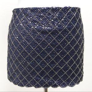 Gryphon New York Micro Mini Skirt Sequin Beaded